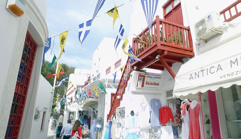 greece itinerary Mykonos town