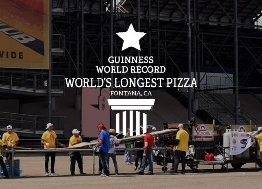 world's longest pizza 2017 fontana