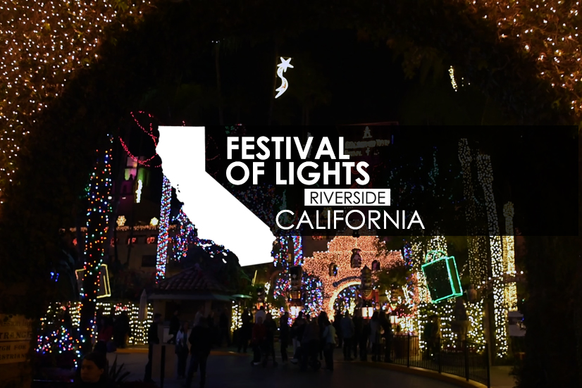 Visiting the Festival of Lights in Riverside California