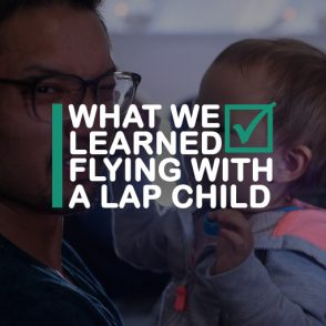 flying with a lap child
