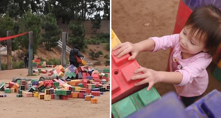 Adventure Playground Irvine large lego blocks