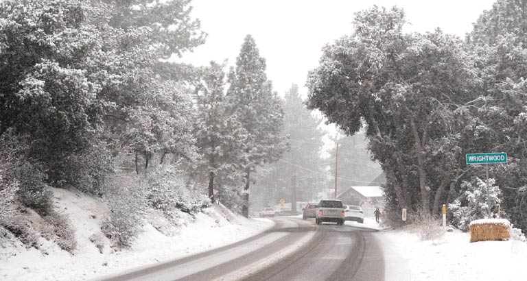 Wrightwood Snow Day Town