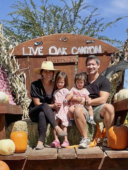 Live Oak Canyon Pumpkin Patch Family photo